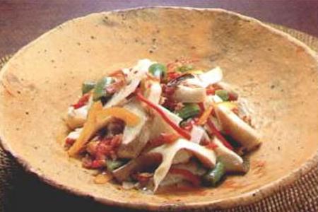 あわび茸の彩・いろいろサラダ