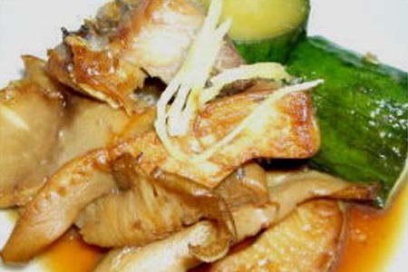 あわび茸と鰊の夏野菜炒め煮